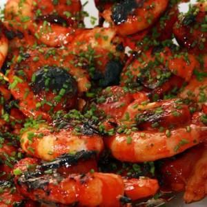 Grillspett med Gambas och Chorizo